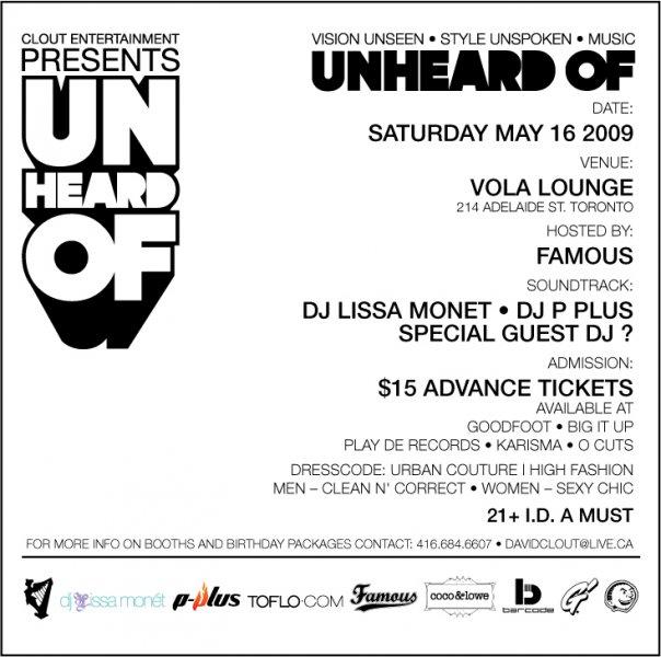 UnHeard Of Flyer - Back